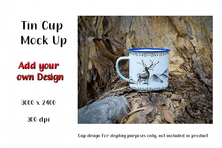 Tin Cup Mock Up with Country Feel