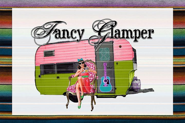 Fancy Glamper Sublimation Digital Download