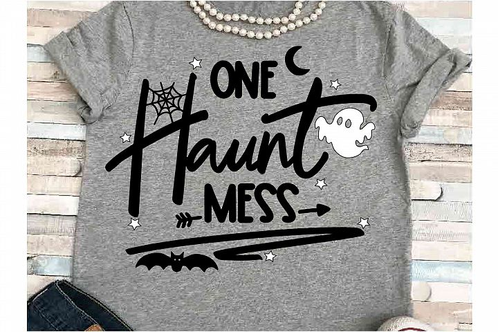 Haunt mess SVG DXF JPEG Silhouette Cricut Halloween ghost