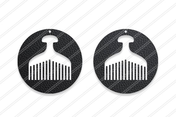 Comb Earrings svg,Afro comb,Laser cut earrings, Jewelry svg,
