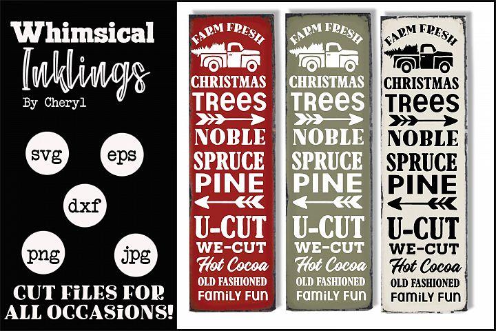 Christmas Tree Farm Vertical SVG