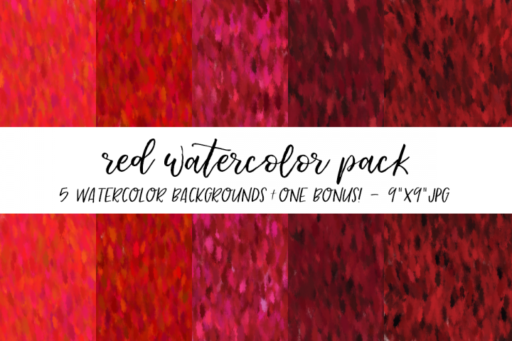 Red Watercolor Backgrounds