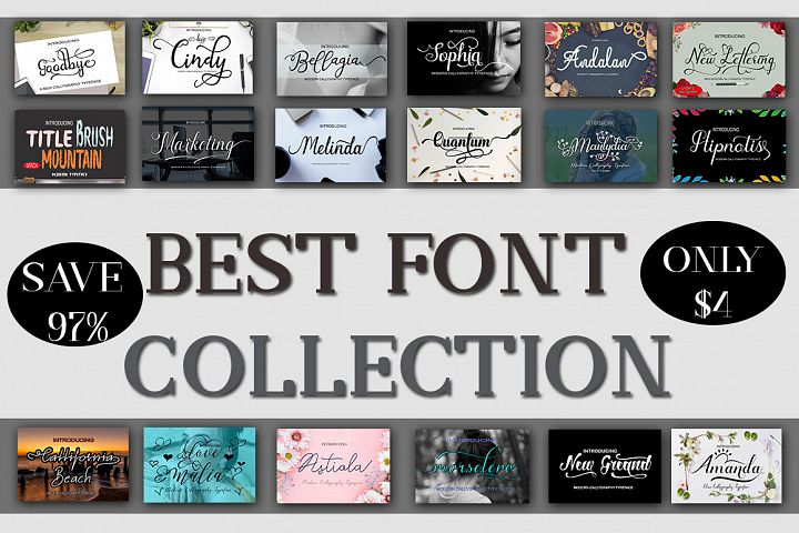 BEST FONT COLLECTION Font Bundle