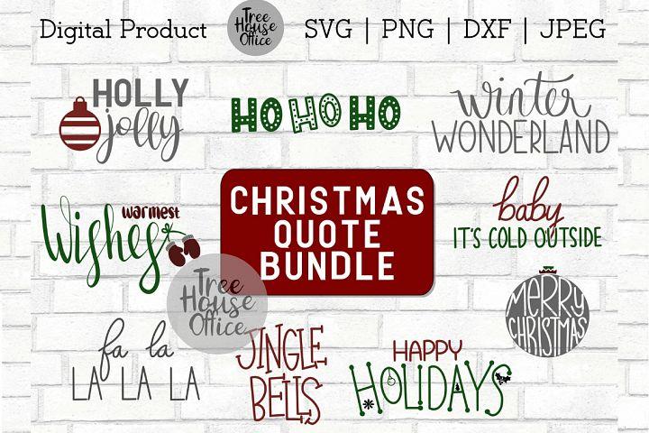 Christmas Quote Bundle, Sign Making Bundle SVG DXF PNG JPEG