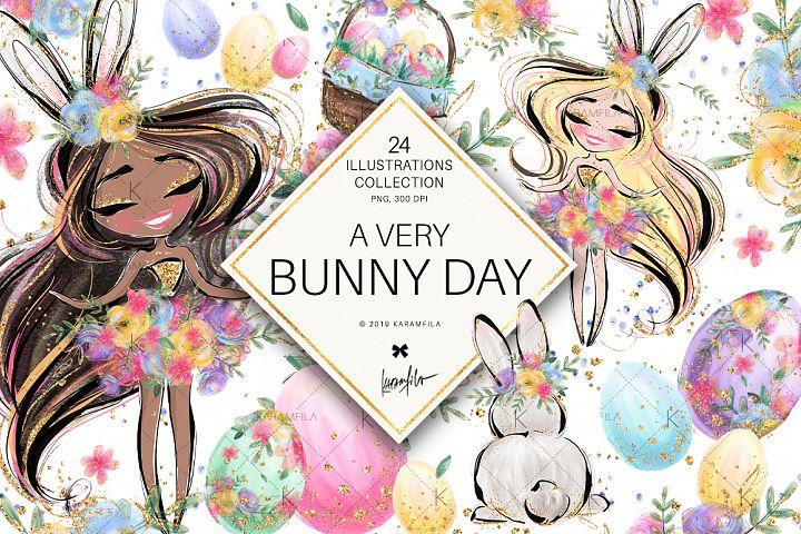 Easter Eggs Bunny Fairy Clipart