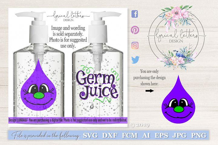 Germ Juice Hand Sanitizer Monster #1 SVG DXF LL066A
