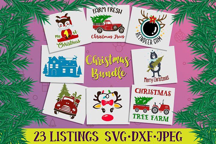 Christmas bundle svg, dxf, jpeg