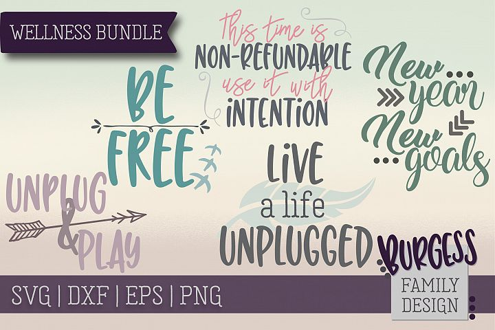 Wellness Bundle | SVG DXF EPS PNG