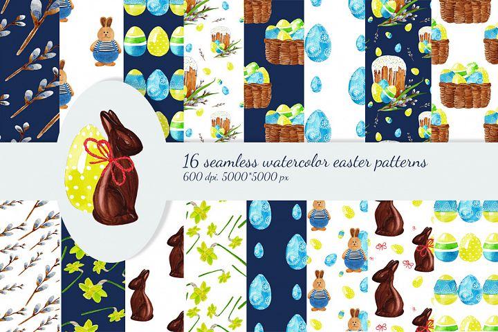 Easter watercolor digital paper