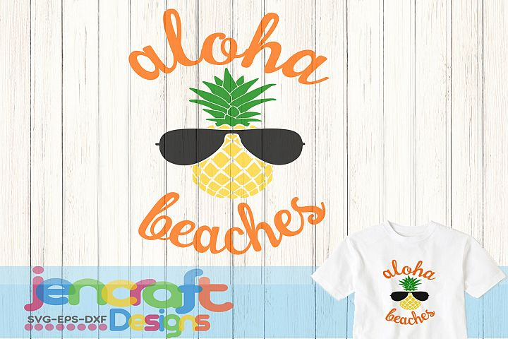 Aloha beaches svg, DXF, EPS, Png