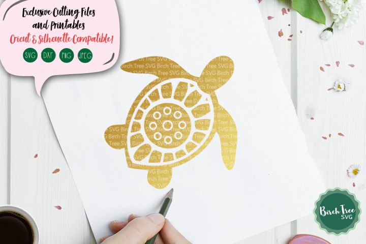 Turtle Mandala Svg, Turtle Svg, Sea Turtle Svg File, Beach
