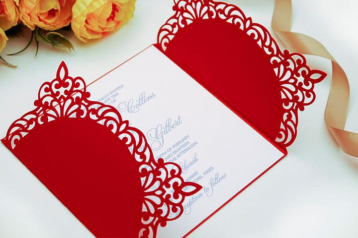 Gate fold wedding invitation , 5x5, SVG Cricut Template