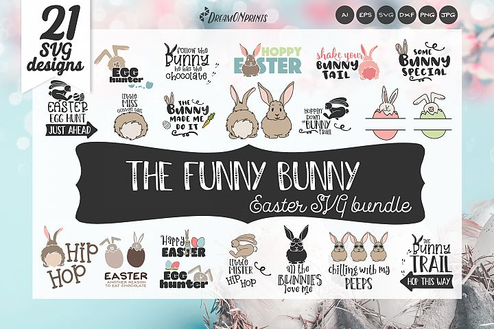 Easter SVG Bundle - The Funny Bunny Vector BUNDLE