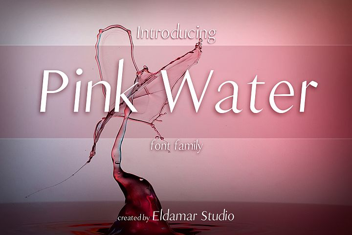 Pink Water Font