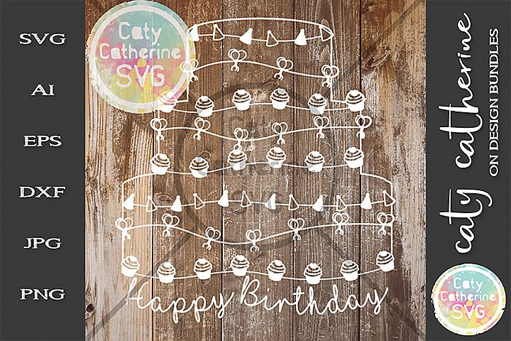 Happy Birthday Cake SVG Cut File