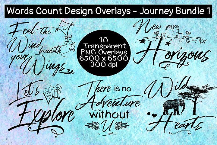 Words Count Design - Journey Overlay Bundle #1