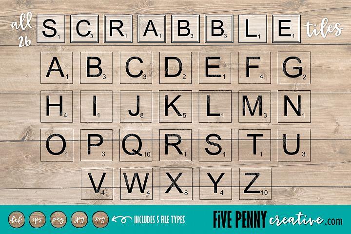 Scrabble Tiles | SVG JPG, PNG, EPS, DXP