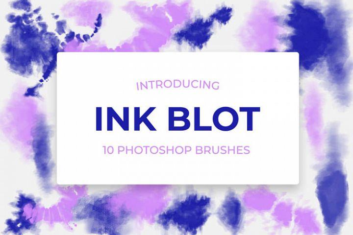 10 Tie-Dye Ink Blot Brushes