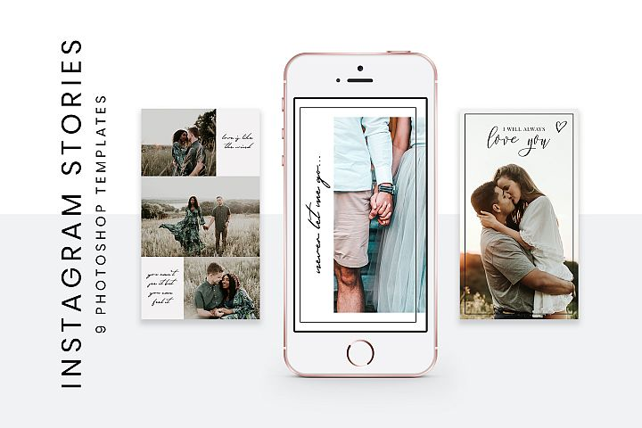 Valentines Day Instagram Story - 9 Photoshop templates