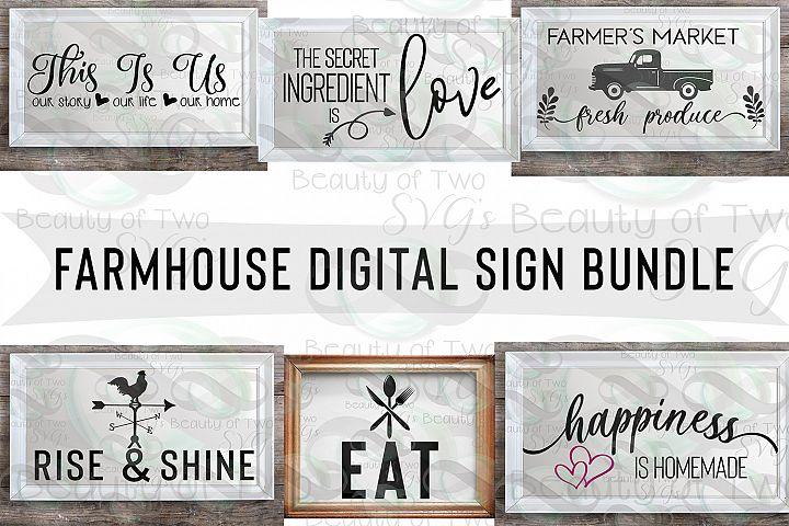 Svg Farmhouse Digital Sign Bundle, 6 Farmhouse svg designs
