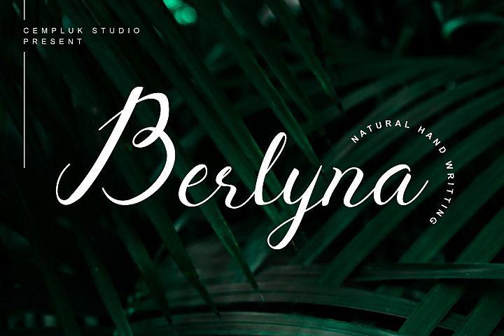 Berlyna - Modern Script Font