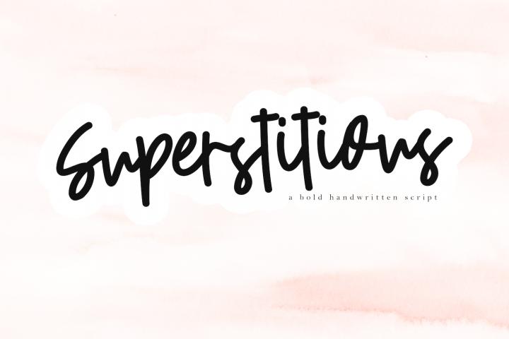 Superstitious - Bold Script Font