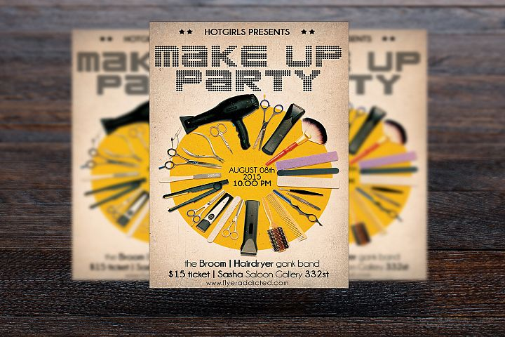 Make Up Party Flyer