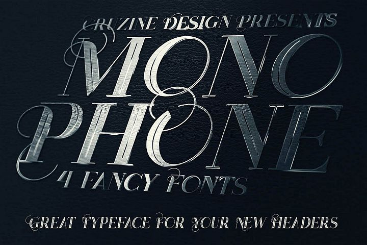Monophone - Fancy Font example image 3