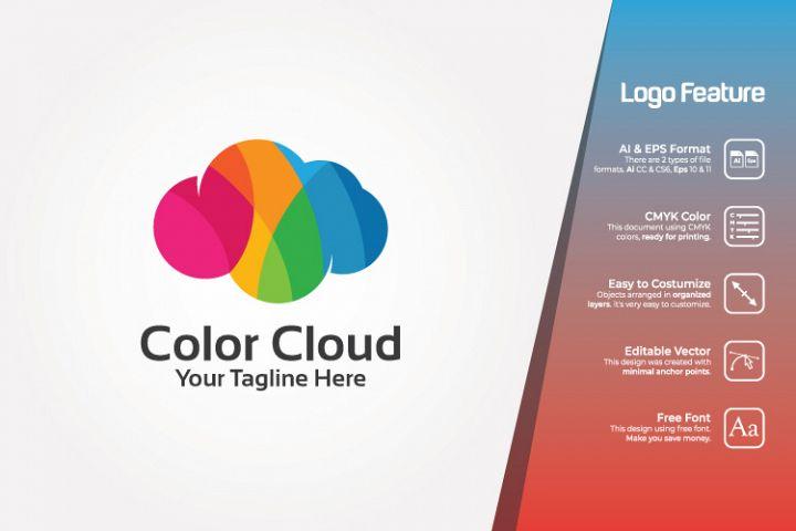 Colorful Cloud Logo Template