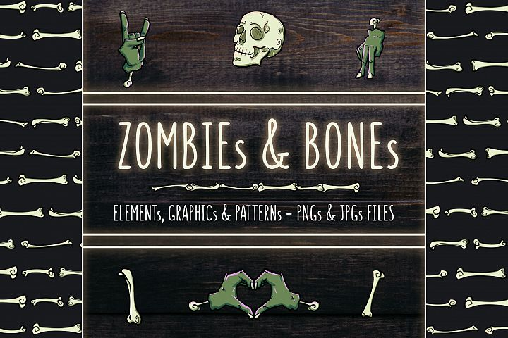ZOMBIEs & BONEs - Illustrations and Patterns