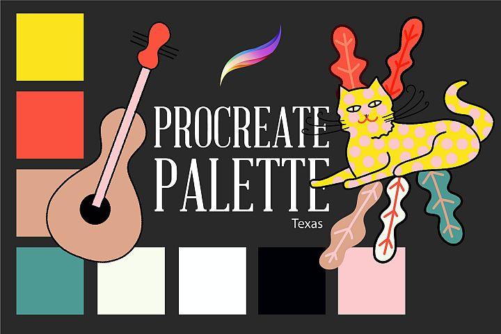 Procreate palette.Texas