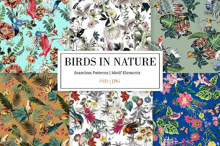 Birds in Nature |Seamless Patterns