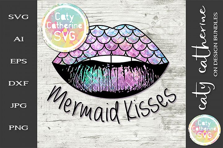 Mermaid Kisses Scales Lips SVG Cut File