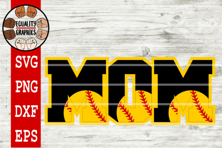 Softball Mom SVGs | DXF | EPS | PNG | PDF
