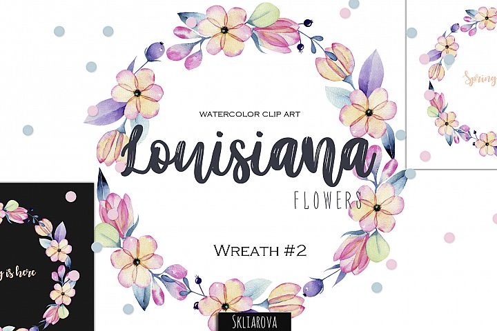 Louisiana flowers. Wreath#2