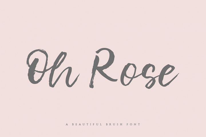 Oh Rose Brush Font