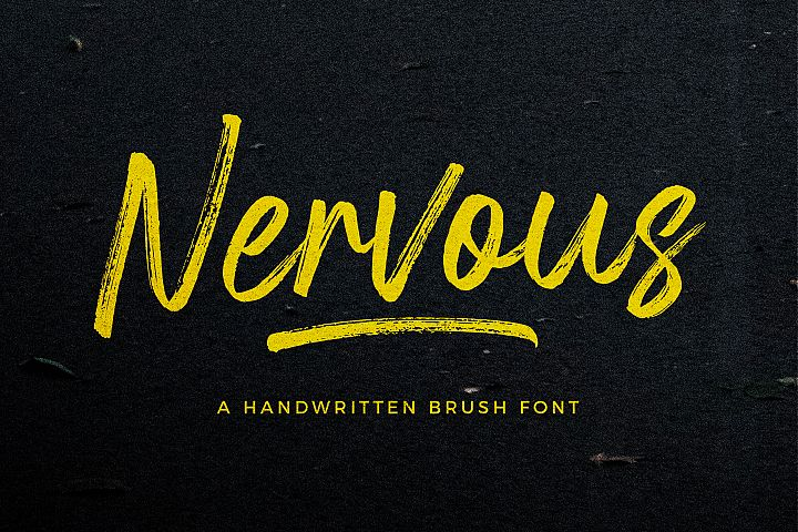 Nervous Brush Font