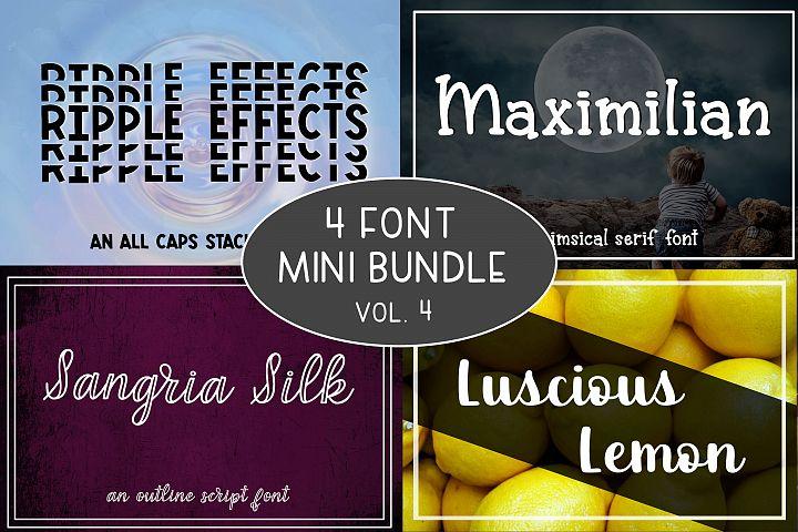 4 Font Mini Bundle - Volume 4