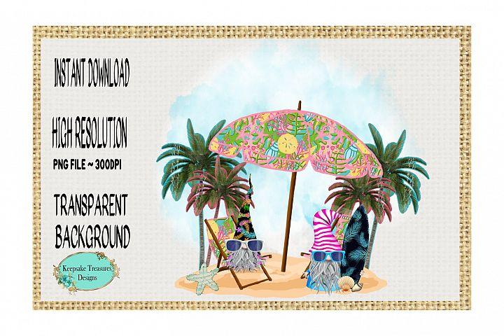 Summer Gnomes, Fun In the Sun, Sublimation Design