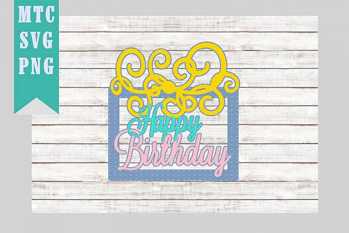 Happy Birthday Present/Gift Design #04 SVG Cut file