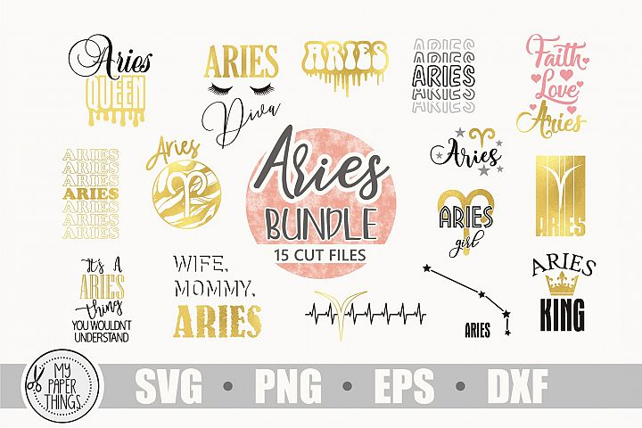 Aries svg bundle, Birthday svg, Zodiac sign