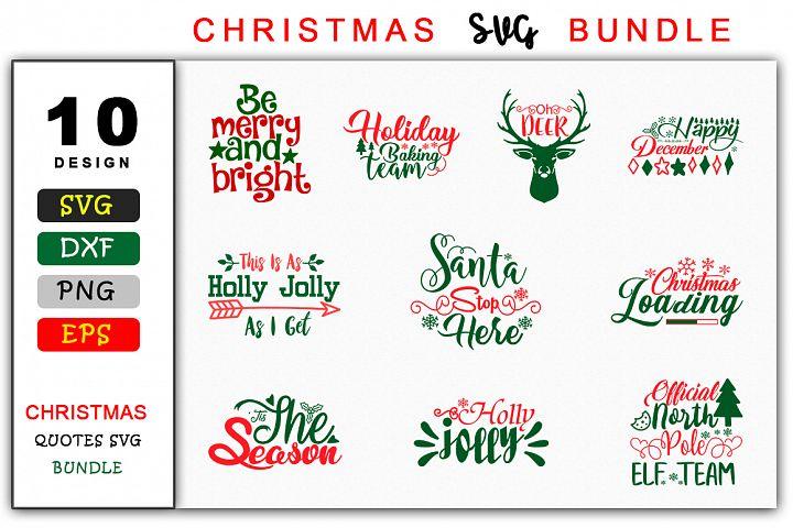 Christmas Saying SVG Design