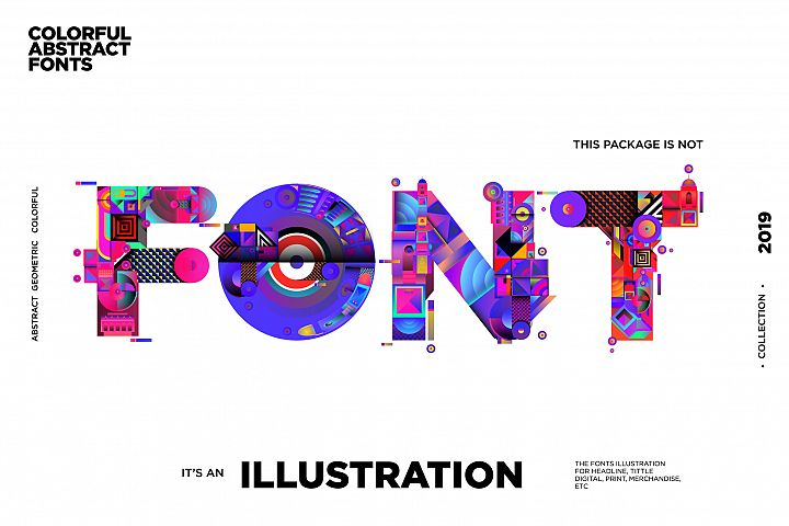 Colorful Alphabets Font Illustration