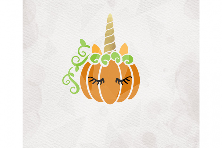 Unicorn Pumpkin SVG Pumpkin svg Cricut Silhouette pdf png dx