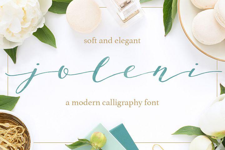 Joleni Font - modern elegant calligraphy