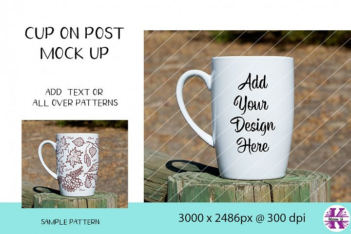 Mock Up - Cup On Post