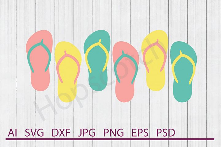 Flip Flops SVG, DXF File, Cuttable File