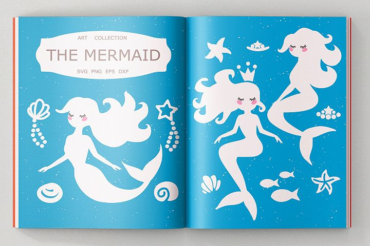 Mermaid Bundle SVG DXF EPS PNG