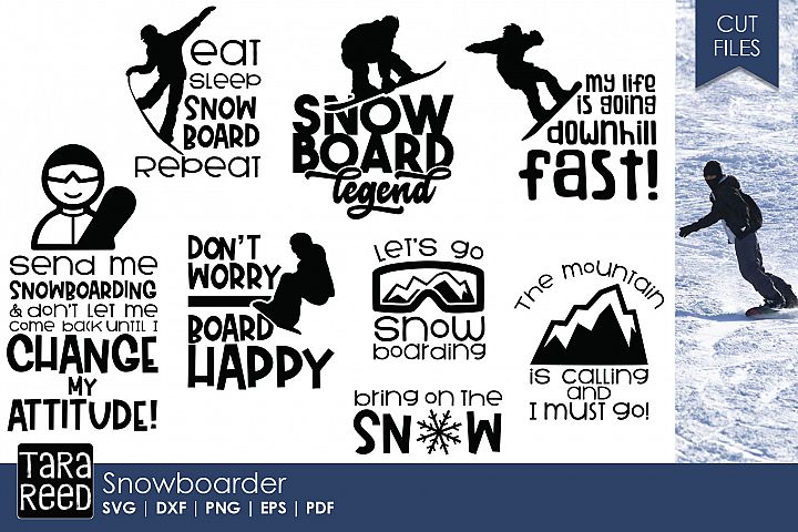 Snowboard Legend - Snowboarding SVG and Cut Files for Craft