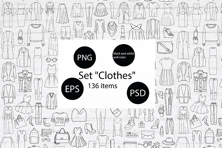 Large set of clothing and accessories